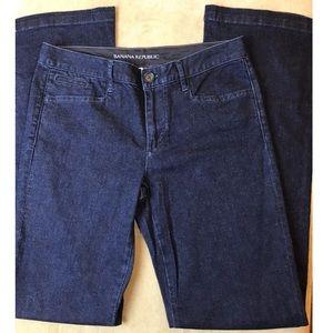 Blue BANANA REPUBLIC Denim Trousers Stretch Jeans